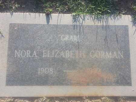 ELIZABETH GORMAN, NORA - Los Angeles County, California | NORA ELIZABETH GORMAN - California Gravestone Photos