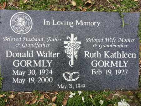 GORMLY, DONALD W. - Los Angeles County, California   DONALD W. GORMLY - California Gravestone Photos