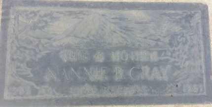 GRAY, NANNIE - Los Angeles County, California   NANNIE GRAY - California Gravestone Photos
