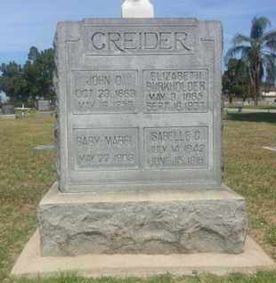 GREIDER, ELIZABETH - Los Angeles County, California | ELIZABETH GREIDER - California Gravestone Photos
