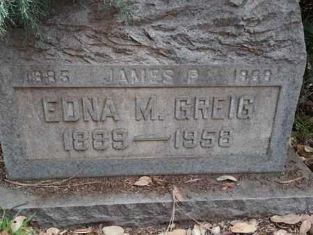 GREIG, EDNA M. - Los Angeles County, California | EDNA M. GREIG - California Gravestone Photos
