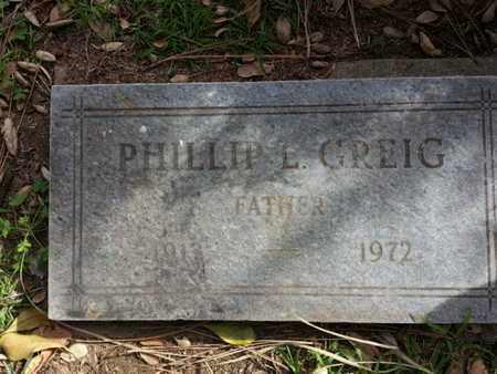 GREIG, PHILLIP L. - Los Angeles County, California   PHILLIP L. GREIG - California Gravestone Photos