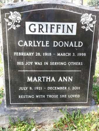 GRIFFIN, MARTHA ANN - Los Angeles County, California   MARTHA ANN GRIFFIN - California Gravestone Photos