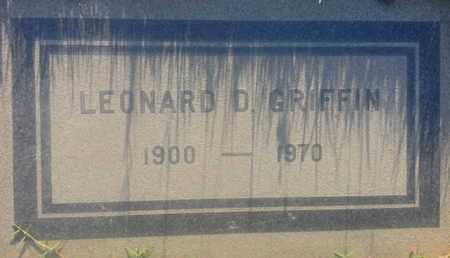 GRIFFIN, LEONARD - Los Angeles County, California   LEONARD GRIFFIN - California Gravestone Photos