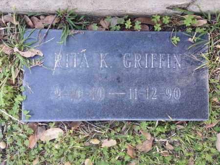 GRIFFIN, RITA K. - Los Angeles County, California   RITA K. GRIFFIN - California Gravestone Photos
