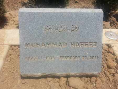 HAFEEZ, MUHAMMAD - Los Angeles County, California | MUHAMMAD HAFEEZ - California Gravestone Photos
