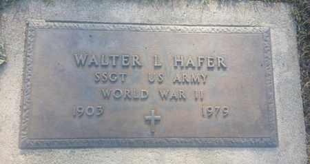 HAFER, WALTER - Los Angeles County, California | WALTER HAFER - California Gravestone Photos