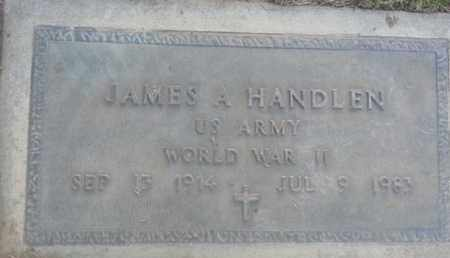 HANDLEN, JAMES - Los Angeles County, California | JAMES HANDLEN - California Gravestone Photos