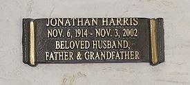 HARRIS, JONATHAN (ACTOR) - Los Angeles County, California | JONATHAN (ACTOR) HARRIS - California Gravestone Photos