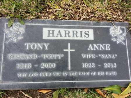 HARRIS, TONY - Los Angeles County, California | TONY HARRIS - California Gravestone Photos