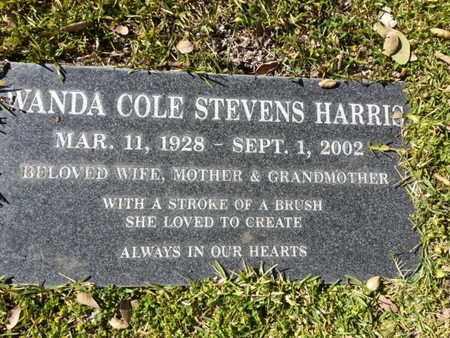 HARRIS, WANDA - Los Angeles County, California | WANDA HARRIS - California Gravestone Photos