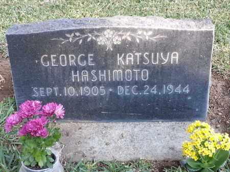 HASHIMOTO, GEORGE KATSUYA - Los Angeles County, California   GEORGE KATSUYA HASHIMOTO - California Gravestone Photos