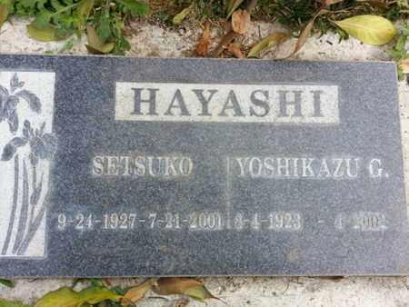 HAYASHI, SETSUKO - Los Angeles County, California | SETSUKO HAYASHI - California Gravestone Photos