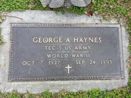 HAYNES, GEORGE A. - Los Angeles County, California   GEORGE A. HAYNES - California Gravestone Photos