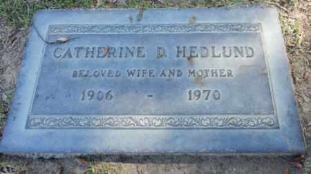 HEDLUND, CATHERINE - Los Angeles County, California   CATHERINE HEDLUND - California Gravestone Photos