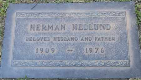 HEDLUND, HERMAN - Los Angeles County, California | HERMAN HEDLUND - California Gravestone Photos