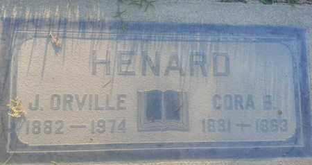 HENARD, CORA - Los Angeles County, California   CORA HENARD - California Gravestone Photos