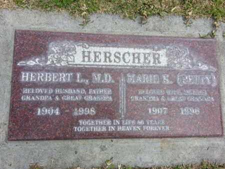 HERSCHER, MD, HERBERT L. - Los Angeles County, California   HERBERT L. HERSCHER, MD - California Gravestone Photos