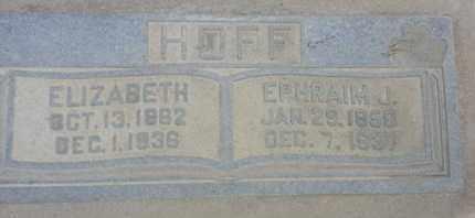 HOFF, EPHRAIM - Los Angeles County, California | EPHRAIM HOFF - California Gravestone Photos