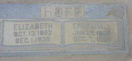 HOFF, ELIZABETH - Los Angeles County, California | ELIZABETH HOFF - California Gravestone Photos