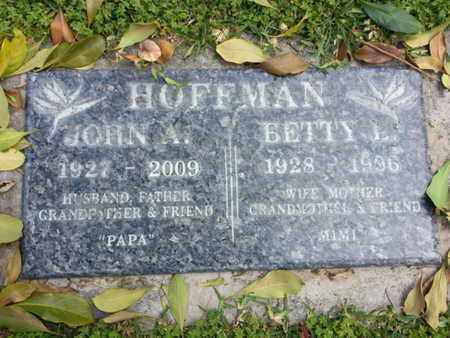 HOFFMAN, BETTY L. - Los Angeles County, California   BETTY L. HOFFMAN - California Gravestone Photos