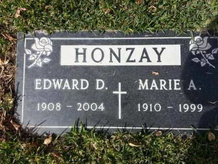 HONZAY, EDWARD D. - Los Angeles County, California | EDWARD D. HONZAY - California Gravestone Photos