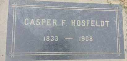 HOSFELDT, CASPER - Los Angeles County, California | CASPER HOSFELDT - California Gravestone Photos