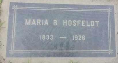HOSFELDT, MARIA - Los Angeles County, California   MARIA HOSFELDT - California Gravestone Photos