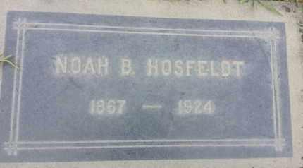 HOSFELDT, NOAH - Los Angeles County, California   NOAH HOSFELDT - California Gravestone Photos