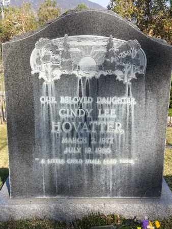 HOVATTER, CINDY LEE - Los Angeles County, California   CINDY LEE HOVATTER - California Gravestone Photos