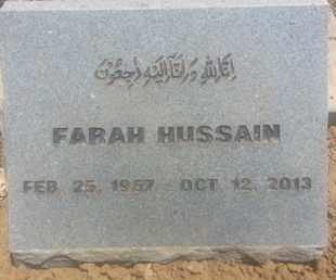 HUSSAIN, FARAH - Los Angeles County, California | FARAH HUSSAIN - California Gravestone Photos