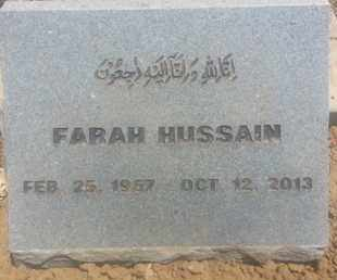 HUSSAIN, FARAH - Los Angeles County, California   FARAH HUSSAIN - California Gravestone Photos