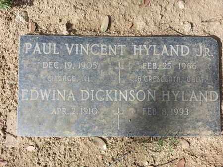 DICKINSON HYLAND, EDWINA - Los Angeles County, California | EDWINA DICKINSON HYLAND - California Gravestone Photos
