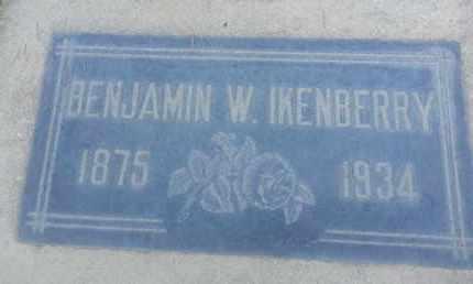 IKENBERRY, BENJAMIN - Los Angeles County, California | BENJAMIN IKENBERRY - California Gravestone Photos