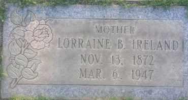 IRELAND, LORRAINE - Los Angeles County, California | LORRAINE IRELAND - California Gravestone Photos