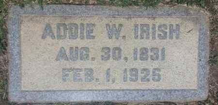 IRISH, ADDIE - Los Angeles County, California | ADDIE IRISH - California Gravestone Photos