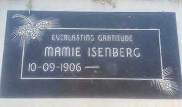 ISENBERG, MAMIE - Los Angeles County, California | MAMIE ISENBERG - California Gravestone Photos