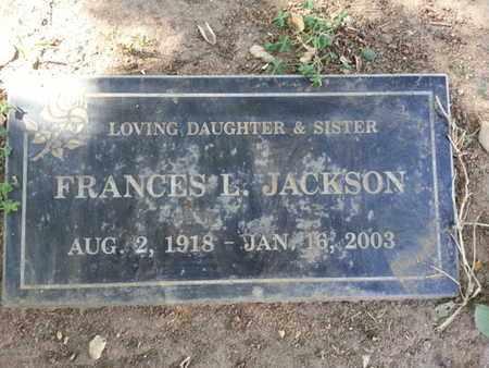 JACKSON, FRANCES L. - Los Angeles County, California | FRANCES L. JACKSON - California Gravestone Photos