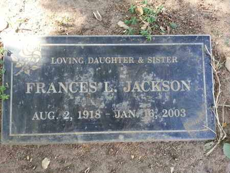 JACKSON, FRANCES L. - Los Angeles County, California | FRANCES L. JACKSON - California Gravestone Photos