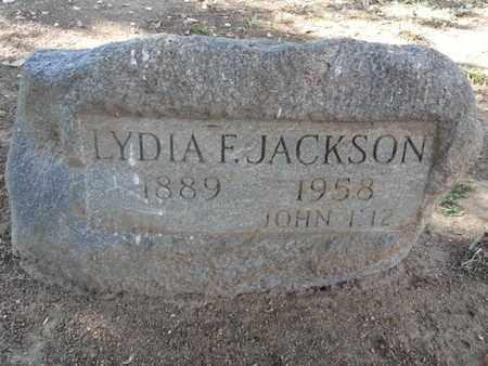 JACKSON, LYDIA F. - Los Angeles County, California | LYDIA F. JACKSON - California Gravestone Photos