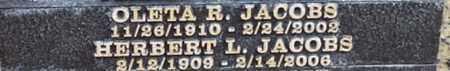 JACOBS, OLETA R. - Los Angeles County, California | OLETA R. JACOBS - California Gravestone Photos