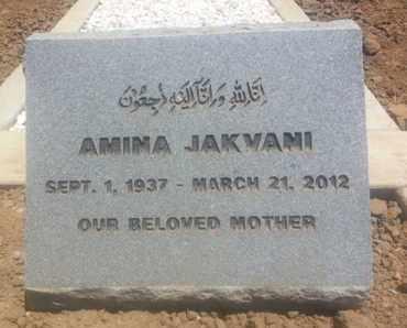 JAKVANI, AMINA - Los Angeles County, California   AMINA JAKVANI - California Gravestone Photos