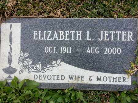 JETTER, ELIZABETH L. - Los Angeles County, California | ELIZABETH L. JETTER - California Gravestone Photos