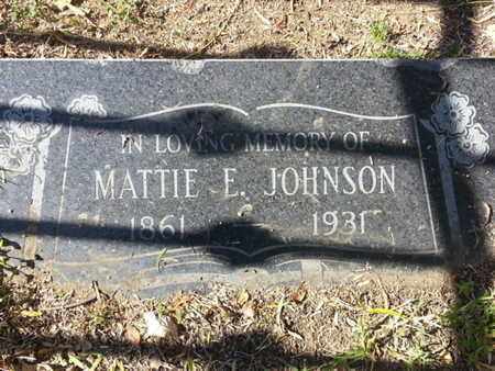 JOHNSON, MATTIE - Los Angeles County, California | MATTIE JOHNSON - California Gravestone Photos