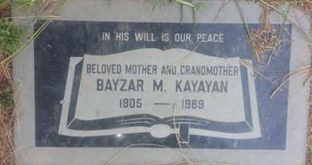KAYAYAN, BAYZAR - Los Angeles County, California | BAYZAR KAYAYAN - California Gravestone Photos