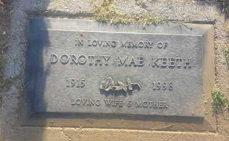 KEETH, DOROTHY MAE - Los Angeles County, California | DOROTHY MAE KEETH - California Gravestone Photos