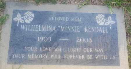KENDALL, WILHELMINA - Los Angeles County, California | WILHELMINA KENDALL - California Gravestone Photos