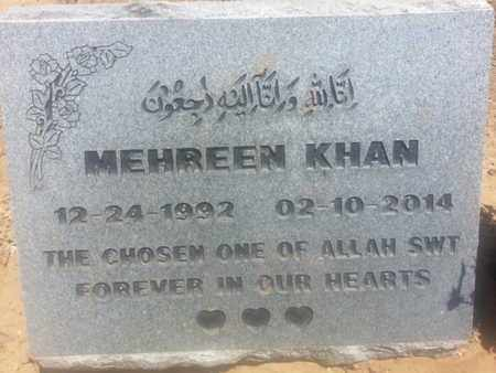 KHAN, MEHREEN - Los Angeles County, California | MEHREEN KHAN - California Gravestone Photos