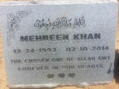 KHAN, MEHREEN - Los Angeles County, California   MEHREEN KHAN - California Gravestone Photos