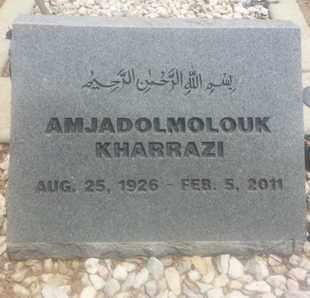 KHARRAZI, AMJADOLMOLOUK - Los Angeles County, California | AMJADOLMOLOUK KHARRAZI - California Gravestone Photos